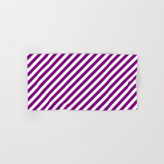 Diagonal Stripes (Purple/White) Hand & Bath Towel
