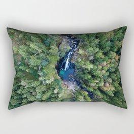 königssee waterfall alps bayern forrest drone aerial shot nature wanderlust vertical Rectangular Pillow