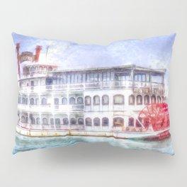 New Orleans Paddle Steamer Art Pillow Sham