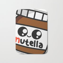 nutell nutel a chocolate new choco coco sticker stickers art new fun delicious cute hot 2018 Bath Mat