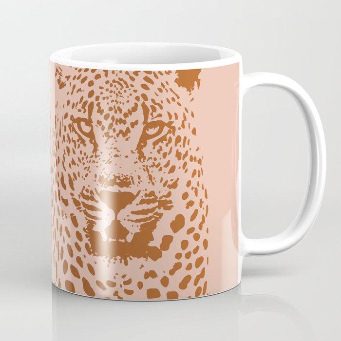 Sunset Blvd Leopard - blush pink and coral original print by Kristen Baker Coffee Mug