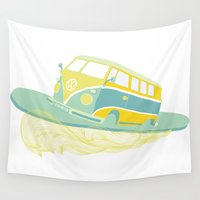 surf Wall Tapestries featuring Surf by Julia Brnv