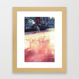 Life Follows Through Framed Art Print