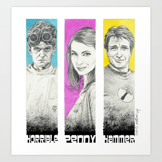 Dr. Horrible's Sing-Along Blog Art Print