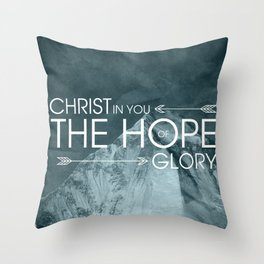 Hope of Glory - Colossians 1:27 Throw Pillow