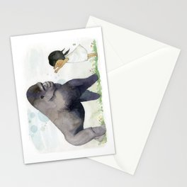 Hug me , Mr. Gorilla Stationery Cards