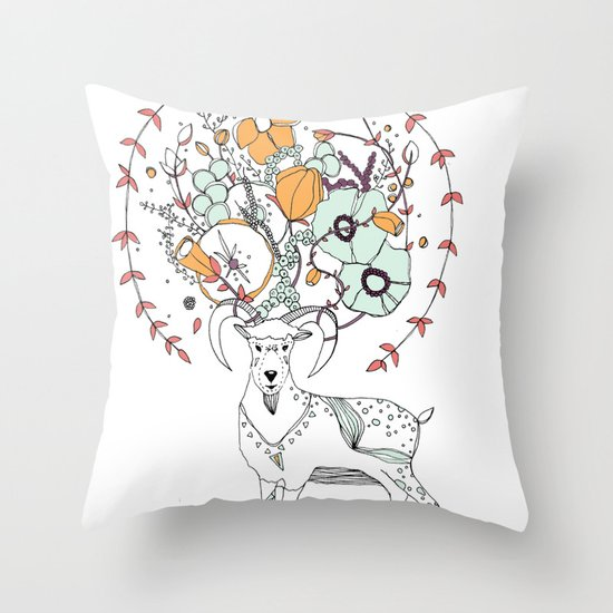 like a halo around your head Throw Pillow