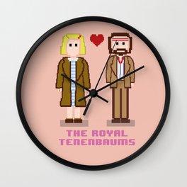 Margot and Richie Tenenbaum 8 bits Wall Clock
