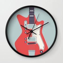 Retro 60s Guitar - Grey Wall Clock