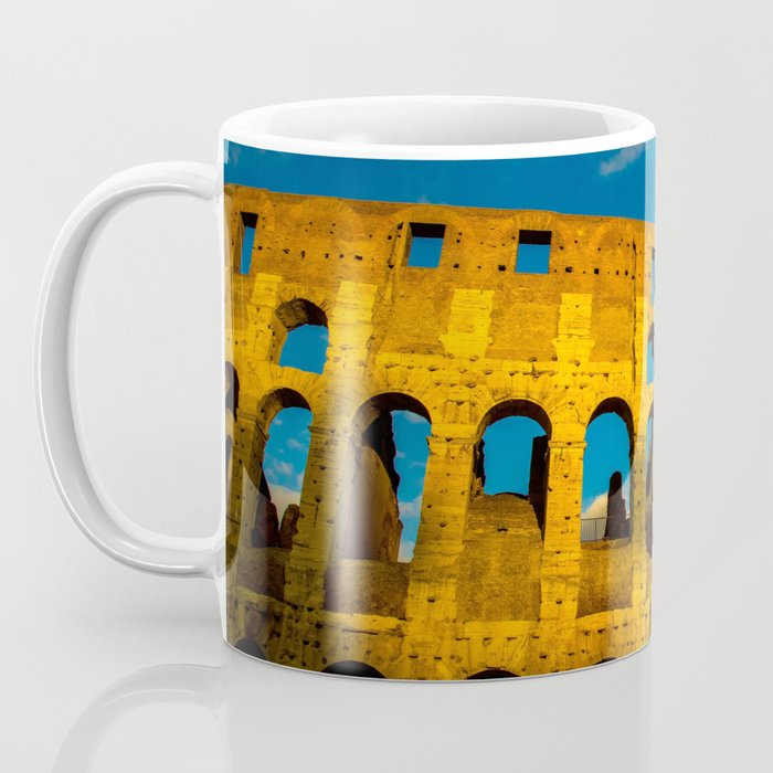 Sunset Over The Roman Colosseum Coffee Mug