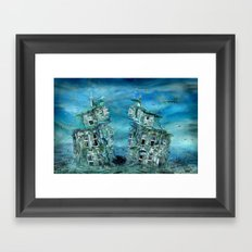 The sunken time Framed Art Print
