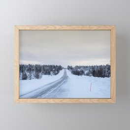 Icy Road in Finland Framed Mini Art Print