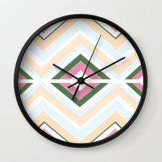 Mod stripes in Sorbet Wall Clock