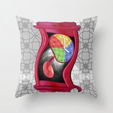 Dali Grandfather Clock Throw Pillow