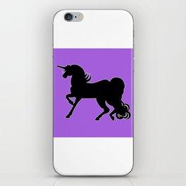 Black Unicorn Silhouette iPhone Skin