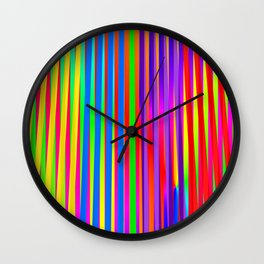 Play with stripes 15 Wall Clock