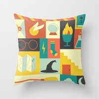 lotr Throw Pillows featuring King's Cross - Harry Potter by Ariel Wilson