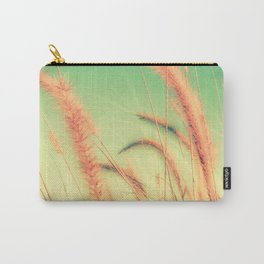 Swing into Spring (Reed Plants with Mint Green Sky Background) Carry-All Pouch