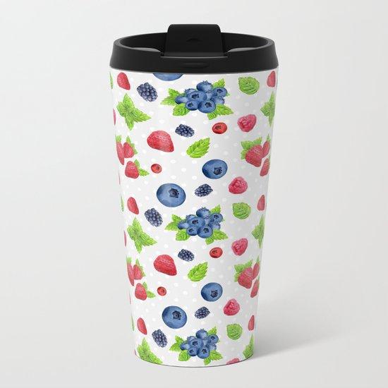 Berries Pattern 02 Metal Travel Mug
