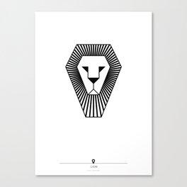animal PICTOGRAMS vol. 5 - LIONS Canvas Print