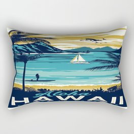 Vintage poster - Hawaii Rectangular Pillow