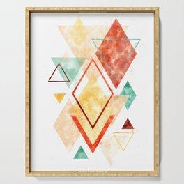 Minimalist Scandinavian Geometric Watercolor Art, Digital Download, Abstract Minimalism, Large Print Serving Tray