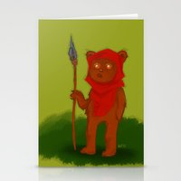 ewok Stationery Cards featuring Ewok by Delucienne Maekerr