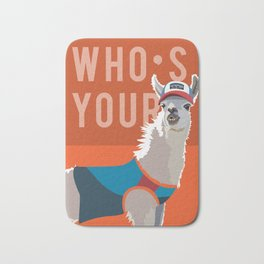 Who's Your Llama Bath Mat