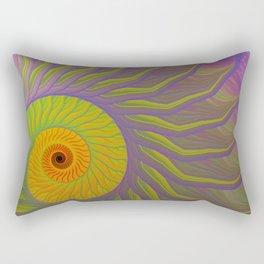 Fantasy Nautilus shell abstract Rectangular Pillow