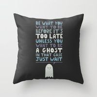 motivational Throw Pillows featuring Motivational Speaker by Teo Zirinis