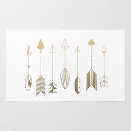 Be Brave Little Arrow (gold) Rug