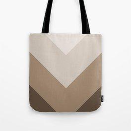 Brown Taupe Chevron Stripes Tote Bag