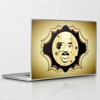 neil gaiman Laptop & iPad Skins featuring Neil deGrasse Tyson  |  Le Voyage Dans La Lune by Silvio Ledbetter