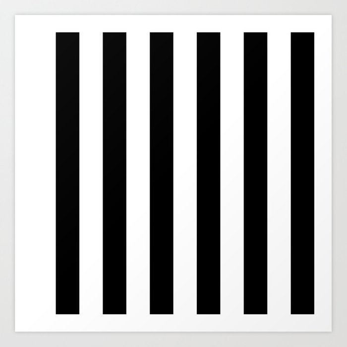 Black   White Vertical Stripes - Mix   Match with Simplicity of Life Art  Print d53398b043bcd