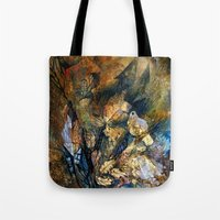pugs Tote Bags featuring Royal pugs by oxana zaika