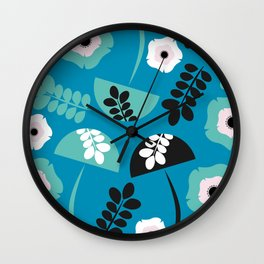 Mushrooms and flowers Wall Clock