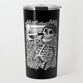 Boombox Skull Travel Mug