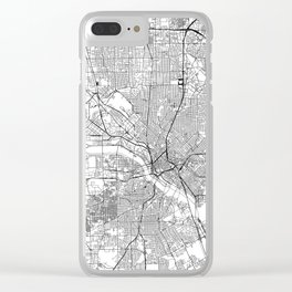 Dallas White Map Clear iPhone Case