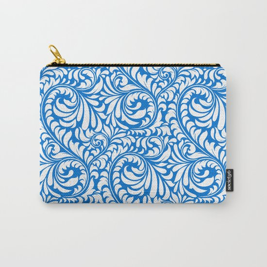 Blue Swirls Carry-All Pouch