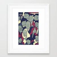 sopranos Framed Art Prints featuring The Sopranos by Ale Giorgini