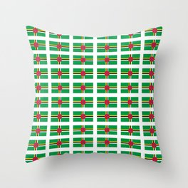 flag of dominica -dominique,dominican,dominiquais,dominiquaise,caribean,antilles Throw Pillow