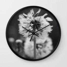 Dew on a Dandelion Wall Clock