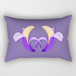 Two Bananas – Ultra Violet Rectangular Pillow