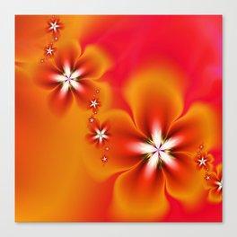 Fleur d'Automne Fractal Canvas Print