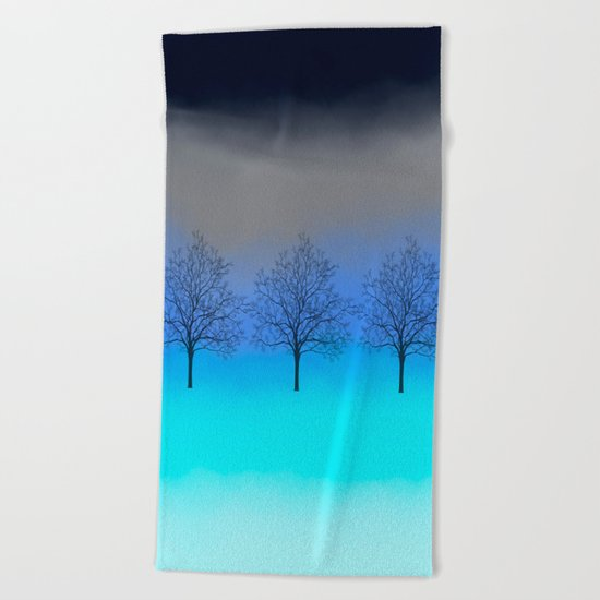 Abstract trees Beach Towel