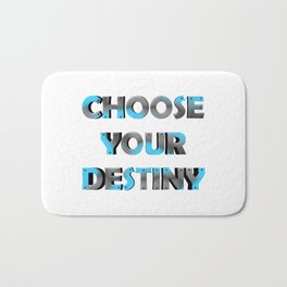 3D METAL TEXT Bath Mat