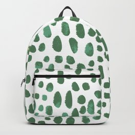 Green Watercolour Spots Backpack