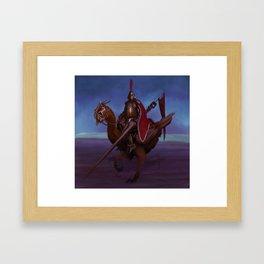 Joust Illustration Framed Art Print