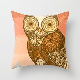 Owlie in Autumn Throw Pillow