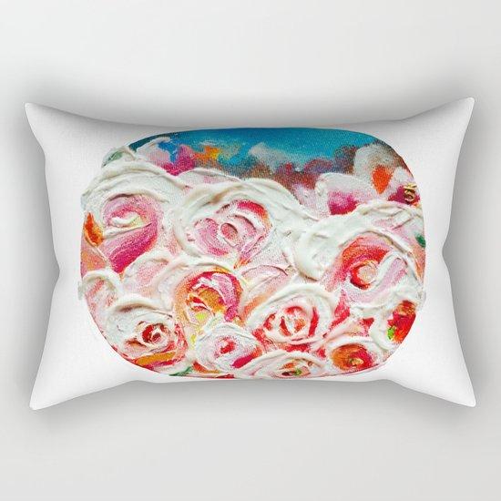 Roses on Fire Rectangular Pillow